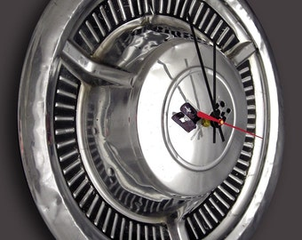 1958 Chevrolet Impala Bel Air Hubcap Clock - Chevy Classic Car Wall Clock - husband valentine day gift