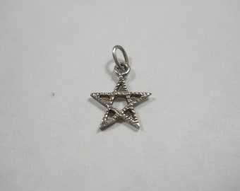 Tiny Star Sterling Silver Charm