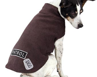 "Dog Corduroy Brown ""Patrol"" Design Wrapper"