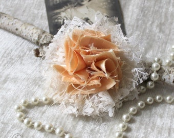 Fabric flower, Kanzashi, decoration, embellishment of bags, hats, gift boxes, table decoration