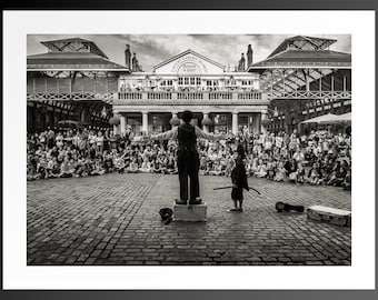LIMITED EDITION Photo Print / Wall Art - Black and White - London Covent Garden - Street /Travel Photography - shotbywiles