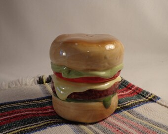 SALT and PEPPER ~ Hamburger,  Stackable,  Pier 1,