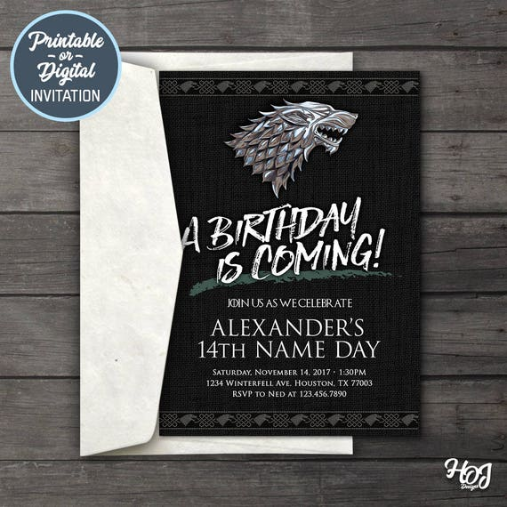 Game of thrones digital birthday party invitation game of filmwisefo