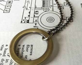 Heavy Brass Circle Necklace
