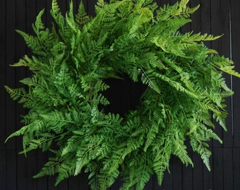 Lush Fern Greenery Year Round Front Door Wreath