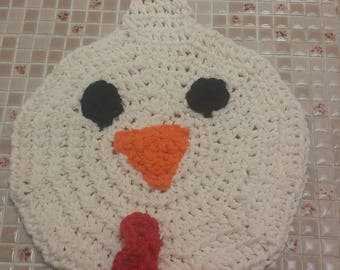 Rooster Washcloth, Dishcloth, Chicken, Kids, Cleaning, Cute, Crochet, Made to Order