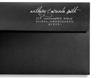 Custom Address Stamp, Self Ink Return Address Stamp, Custom Address Stamps, Self Inking Personalized Stamp, Handwritten Address Stamp, Gifts
