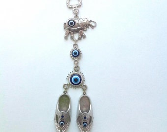 Evil Eye Wall Hanging Charm with Lucky shoe