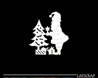 Cut scrapbooking Santa Claus child gift toy Christmas tree Holly embellishment album scrap says deco cut