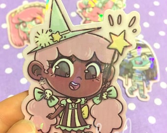 Holographic Pastel Witch Sticker