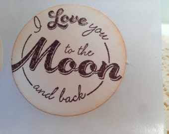 I Love You to the Moon and Back Sticker Seals... ..Set of 12