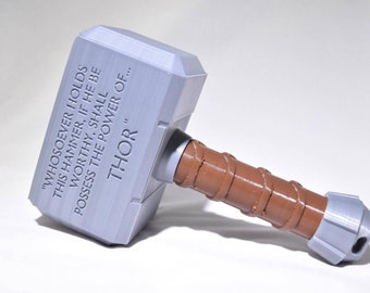 Thor Hammer Baby Rattle - Thor Baby Toy - 3D Printed - Baby Shower Gift - Baby Cosplay - Mjolnir Hammer - Hammer of Thor - Office Decor