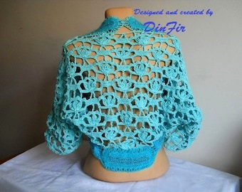 LIQUIDATION Stock SALE 30% OFF Oversized Bolero Shrug Wedding Accessories Gift Crochet Cape Jacket Women Vest Cardigan Hand Knitted Capelet