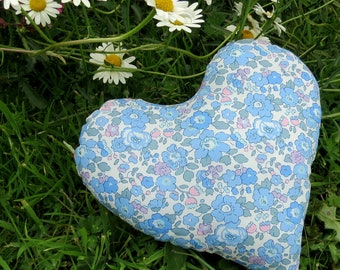 Breast Cancer Pillow. Heart shaped Cushion. Masectomy Pillow.  Made from Liberty Lawn.