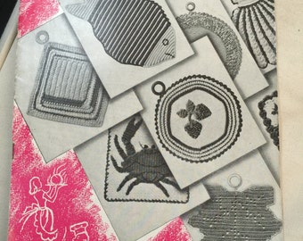 Vintage 1940s Potholder Pattern with Recipes!