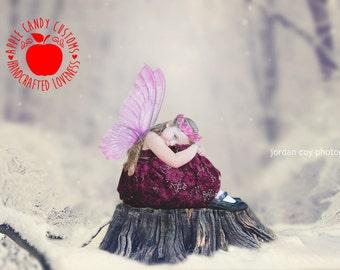 ON SALE! Digital Backdrop, Premium fine art background, photoshop layered template for photographers, Snow Fairy