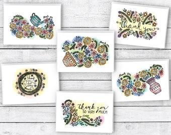 Floral Dreams Thank You Cards - 24 Cards & Envelopes