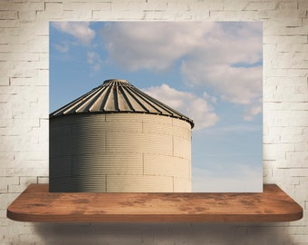 Silo Photograph - Fine Art Print - Color Photography - Wall Art - Wall Decor -  Farm Pictures - Farmhouse Decor - Clouds