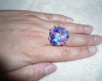 Sale- Berry Patch Beaded Ring