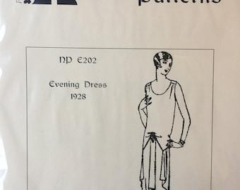 1928 Evening Dress - a flapper dress pattern