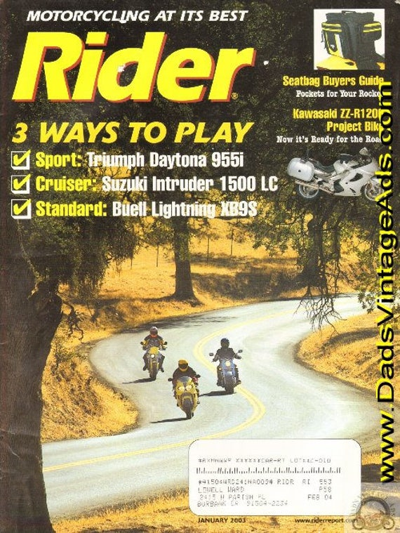 2003 January Rider Motorcycle Magazine Back-Issue #0301rdr