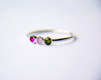 Mother's Birthstone Ring-Gift for Mother Ring- Birthstone Mothers Ring-Birthstone Gift for Mom Ring-Family Ring-Personalized Birthstone Ring