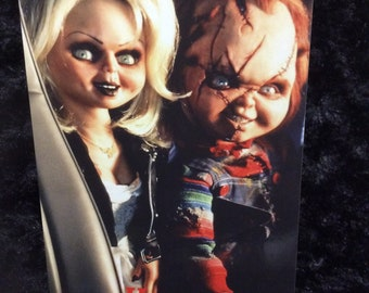 Horror Anniversary card - greeting card - halloween - chucky - tiffany - child's play - unique - 5x7 - love - wedding - couple -gift