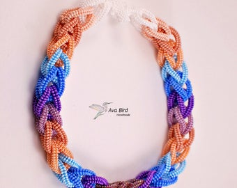 Beaded Necklace Nine Colors