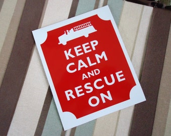 Keep calm rescue on magnet