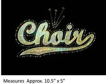 CLOSEOUT SALE Choir Sequins and Rhinestone Transfer Applique ONLY