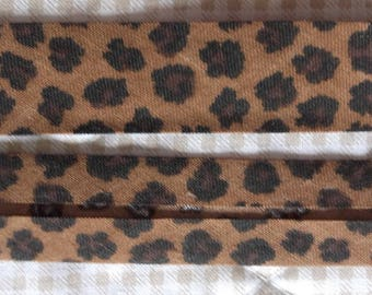 BIAS folded LEOPARD bottom Brown 20/10/10 - for sale by the yard
