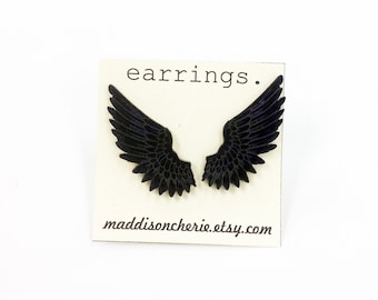 Feathered Wings Earrings | Laser Cut Jewlery | Hypoallergenic Studs