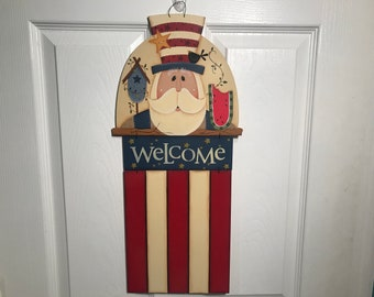 Uncle Sam Welcome Flag