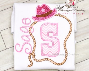 Girl Rodeo Shirt - Cowgirl Outfit - Sheriff Shirt - Sheriff Outfit - Personalized, Embroidered, Monogrammed, For Toddler