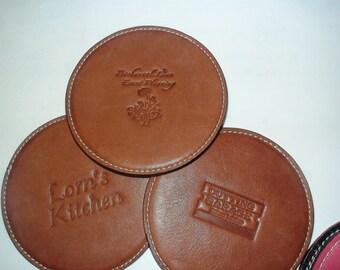 Leather Coasters Custom Monogramed