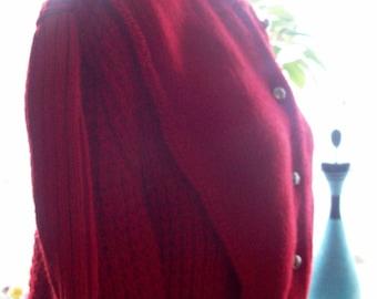 Ladies cardigan Pallas, Irish knitted