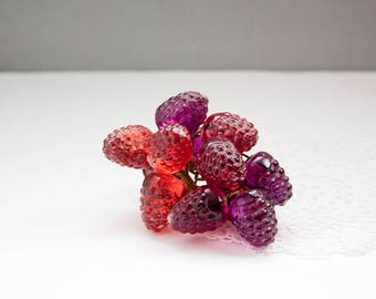 Vintage Resin Raspberry Cluster, Raspberry Decor