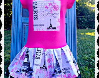 girls PARIS dress 4/5 6/6X 7/8 10/12 14/16 ready to ship