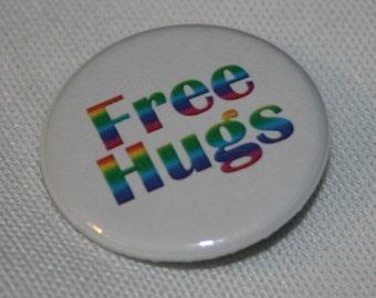 Free Hugs 1.25 inch Pinback Button