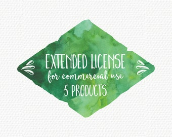 Extended License for Commercial Use for 5 products (Add-On)