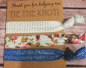 Thank You For Helping Me Tie The Knot - Bridesmaid Hair Ties - Bridal Shower Gift - Bridesmaid Favor - Bridesmaid Gift - Be My Bridesmaid