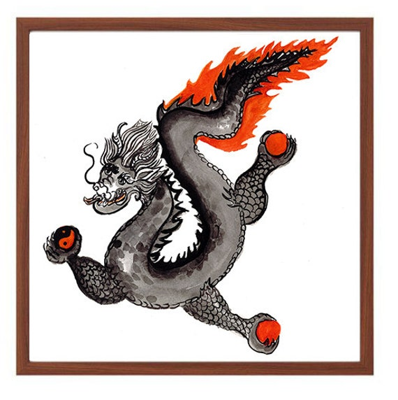 dragon chinese zodiac year of the dragon zen sumi e ink. Black Bedroom Furniture Sets. Home Design Ideas