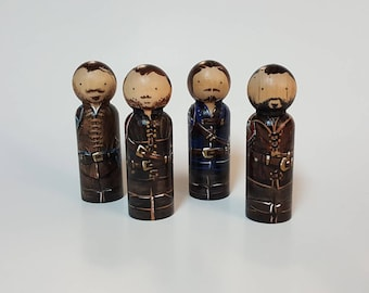 Musketeers Pegdoll Set (4) : Aramis, Athos, Porthos & D'Artagnan - READY TO SHIP