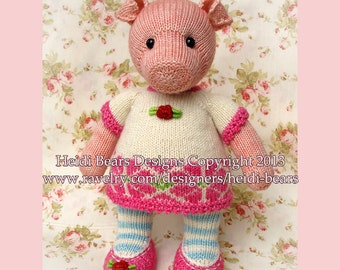 Pigwig the Piglet Knitting Pattern