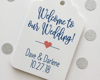 Welcome to our Wedding Printed Cardstock Wedding Tags, Wedding Favor Tags, Favor Tags, Party Favor Tags (ST-219)