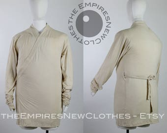 Inner Tunnic in Jersey Knit, Extra Long Bunched-up Sleeves, Custom Tea Dyed - costume, cosplay