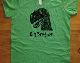 Big Brother Shirt - 8 Colors Available - Dinosaur Kids Big Brother Dinosaur T shirt Sizes 2T, 4T, 6, 8, 10, 12 - Gift Friendly