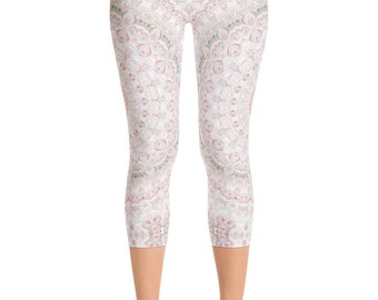 READY TO SHIP - Spring Leggings Size Extra Large, Printed Yoga Pants for Women, Capris