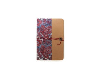 A6 - Paisley fabric cover notebook