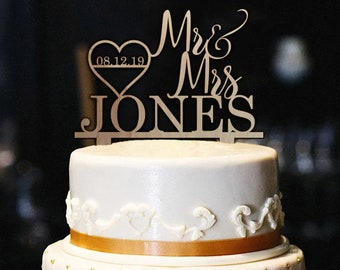 Rustic wedding cake topper Etsy